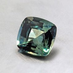 6mm Green Cushion Sapphire #BrilliantEarth