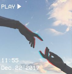 M O O N V E IN S 1 0 1    #vhs #aesthetic #pastel #hands #sky #clouds