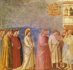Giotto - Scrovegni - -12- - Wedding Procession - Los desposorios de la Virgen - Cortejo nupcial.