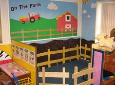Farm role-play area classroom display photo - Photo gallery - SparkleBox Courtney C Dramatic Play Area, Dramatic Play Centers, Classroom Displays, Classroom Themes, Farm Activities, Preschool Farm, Preschool Centers, Preschool Ideas, Play Corner