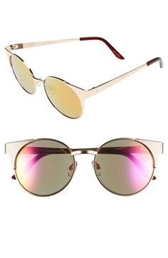 Quay Australia 'Asha' 50mm Metal Sunglasses available at #Nordstrom