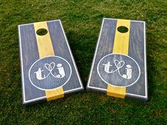 Hey, I found this really awesome Etsy listing at http://www.etsy.com/listing/159416199/wedding-cornhole-game-by-coloradojoes