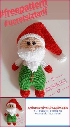 Amigurumi Santa Claus Free Recipe – My Amigurumi Recipes – Toys Ideas Crochet For Boys, Double Crochet, Free Crochet, Crochet Ideas, Crochet Patterns Amigurumi, Baby Knitting Patterns, Babe, Knitted Teddy Bear, Diy Toys