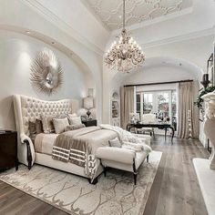 Luxury House Interior Design Tips And Inspiration Master Bedroom Design, Bedroom Inspo, Dream Bedroom, Home Bedroom, Bedroom Decor, Luxury Master Bedroom, Beds Master Bedroom, Master Bedroom Furniture Ideas, Classy Bedroom Ideas