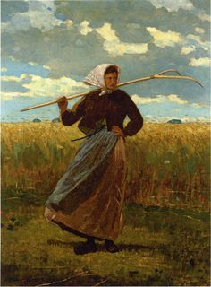 The Return Of The Gleaner by Winslow Homer in American Paintings, Drawings & Sculpture on May 2010 at the null null sale lot 79 Winslow Homer Paintings, Oil Painting Reproductions, Whistler, Art Plastique, Famous Artists, American Artists, Love Art, Female Art, Art History
