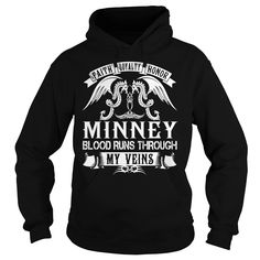 [Popular Tshirt name printing] MINNEY Blood MINNEY Last Name Surname T-Shirt Discount Today Hoodies, Funny Tee Shirts
