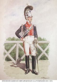 French; Garde du Corps, 3rd Company, Officer, 1814-15 by L.Rousselot