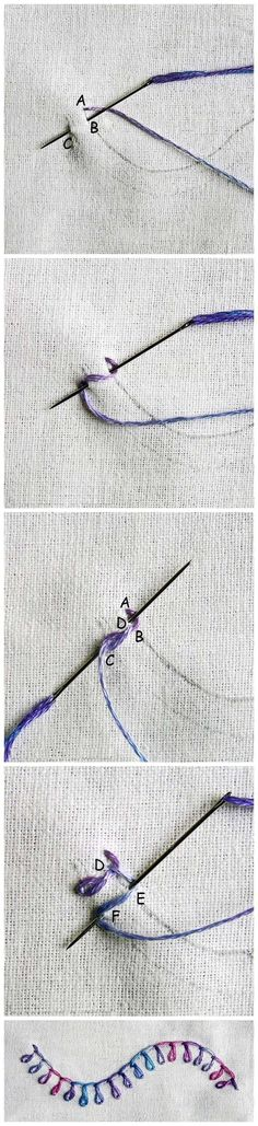 Like this embroidery stitch!