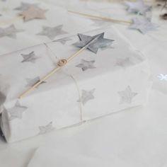 gift wrap, star wrap, wrap paper, stamp star, box, envelop