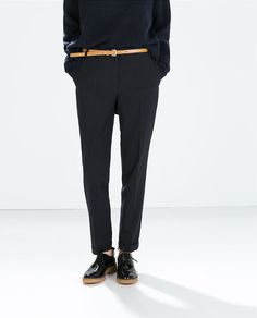 ZARA - WOMAN - CROPPED STRUCTURED TROUSERS 1628/222