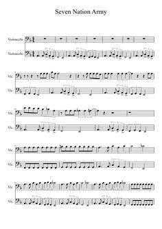 Seven Nation Army Cello Duet - White Stripes   MuseScore.com