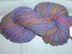 Delicious Spring Colors Hand Dyed Yarn, Wool Worsted Wt. Merino Rambouillet by Marr Haven - Alluring Gems 4.1 ounces 215 yards 18.45 by MarrHavenWoolFarm on Etsy
