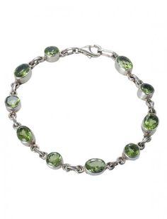 Sterling Silver & Peridot Bracelet - Available at Onyx Goldsmiths