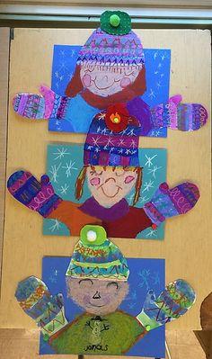 Winter Art Projects, Winter Crafts For Kids, School Art Projects, Winter Kids, Art For Kids, Preschool Winter, January Art, January Crafts, Kindergarten Art