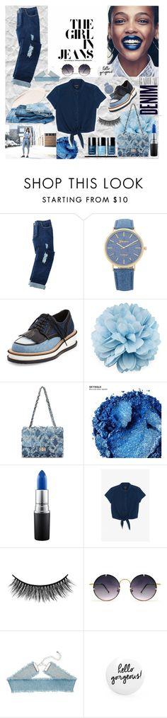 """Denim"" by rubyw00 on Polyvore featuring мода, Avon, Givenchy, Gucci, Alima, Urban Decay, MAC Cosmetics, Monki, Battington и Spitfire"