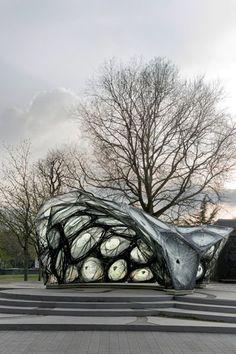 ICD ITKE. Carbon-fibre pavilion based on beetle shells. | METALOCUS