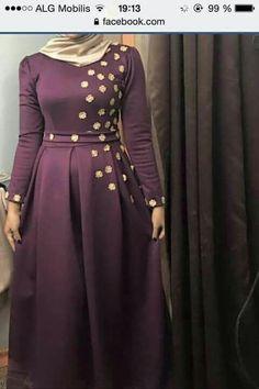 Modern Hijab Fashion, Muslim Women Fashion, Abaya Fashion, Fashion Dresses, Mode Abaya, Mode Hijab, Modest Dresses, Satin Dresses, Hijab Dress Party