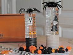 Un Halloween alucinante con botellas de agua - El tarro de ideasEl tarro de ideas