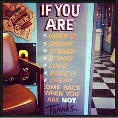 tattoo shop rules Great Signage is a Beauty to look at!