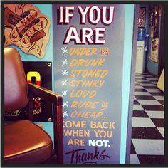 tattoo shop rules
