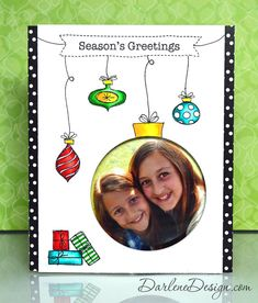 Holiday Photo Card with video tutorial.