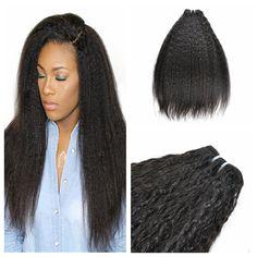 Mongolian Kinky Straight Human Hair Weave Unprocessed Virgin Hair Weave  Cheap Afro Italian Yaki Straight Hair Extensions 75caa6925a