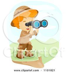 Jungle Explorer Eyes Clip Art
