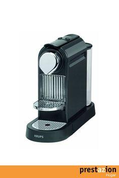 nespresso citiz titan xn720tp4 krups cafetera monodosis (19 bares rejilla adaptable para vaso macchiato modo ahorro energia) color negro y titanico