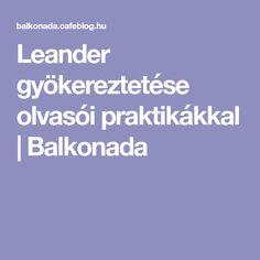 Leander gyökereztetése olvasói praktikákkal | Balkonada