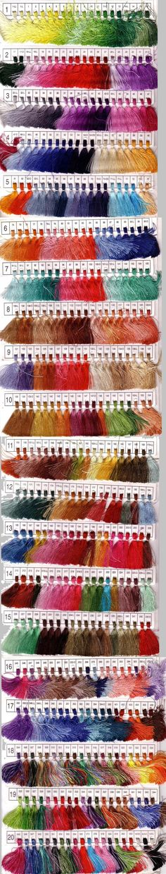 All of the custom thread colors for the custom crewelwork I want to order. Where do I even begin?