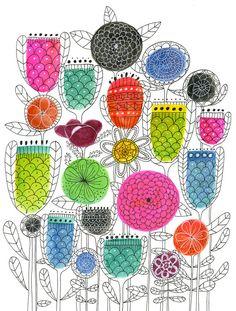 Spring Blossoms Print van lisacongdon op Etsy