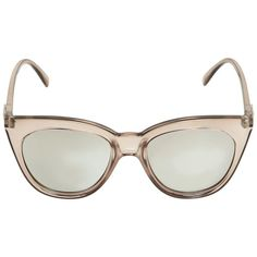Le Specs Women Transparent Acetate Sunglasses ($53) ❤ liked on Polyvore featuring accessories, eyewear, sunglasses, light pink, le specs, transparent sunglasses, le specs sunglasses, lens glasses and transparent glasses