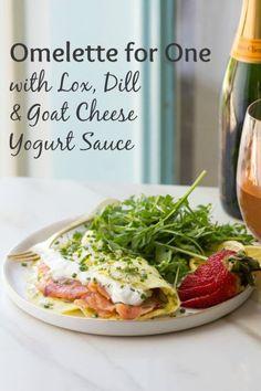 Goat cheese & Strawberry stuffed omelette | Breakfast Treats ...