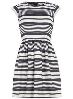 Dorothy Perkins  Blue and white stripe dress
