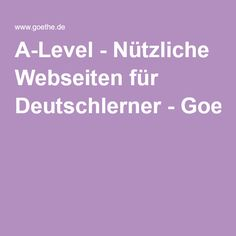 Links for activities for German class. From Goethe Institut London