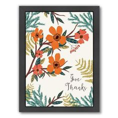 """Bungalow Rose Give Thanks 3 Framed Painting Print Size: 12.5"""" H x 10.5"""" W x 1.5"""" D"""