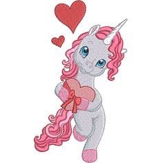 Valentine Unicorns embroidery design collection is digitised for the inch hoop x and is available in ART DST EXP HUS JEF PES VIP and XXX formats. Tween, Machine Embroidery, Embroidery Designs, Applique, Valentines, My Love, Unicorns, Vip, Stitches