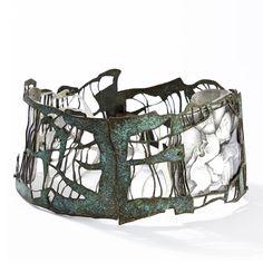 Bracelet | Iona Nieva.  Silver 925, acrylic, paper, pencil, ink, watercolor