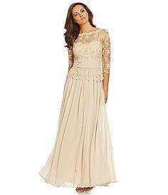 Emma Street Beaded Lace Gown #Dillards