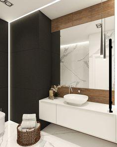 Apartament In Modern Style On Behance Interior Bathroom Black Interior Design, Bathroom Interior Design, Bad Inspiration, Bathroom Inspiration, Toilette Design, Best Bathroom Designs, Bathroom Renos, Amazing Bathrooms, Modern Bathroom