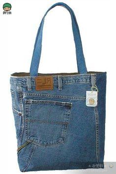 Bags and denim jeans. Сумки из джинсов ~