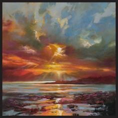 Hobbitholeco Scott Naismith 'Sun Rays' Gallery-wrapped Framed Gel-brush-finish Canvas Wall Art