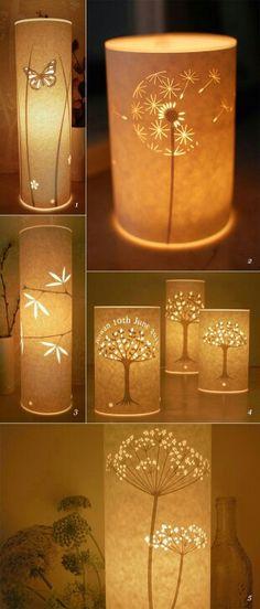ㅇ Diy Paper, Paper Crafts, Types Of Craft, Lamp Makeover, Different Types, Lamp Shades, Light Bulb, Table Lamp, Creative