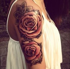 Half sleeve: rose Want something similar to this