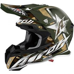 TERMINATOR 2.1 GROUND Dirt Bike Gear, Dirt Bikes, Motocross Helmets, Helmet Paint, Helmet Design, Riding Gear, Bicycle Helmet, Green, Painting
