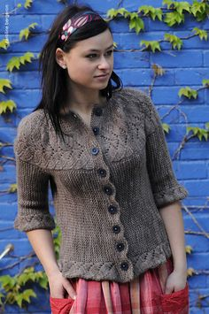 @Ysolda Teague vine yoke cardigan, $7 knit pattern - apparently, I really need to look into Twist Collective more, as this is the third pattern of theirs I've pinned today