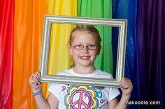Rainbow Photo Booth Backdrop