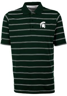 ceabff17 Antigua Michigan State Spartans Mens Green Deluxe Short Sleeve Polo -  3232562