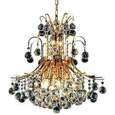 "Toureg 19"" Wide Gold and Crystal 10-Light Chandelier - #39V33   Lamps Plus Crystal Sphere, Crystal Pendant, Clear Crystal, Gold Pendant, Pendant Lamps, Faceted Crystal, Light Pendant, Empire Chandelier, Gold Chandelier"