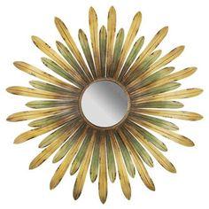 espejo metálico con forma de flor €117.60